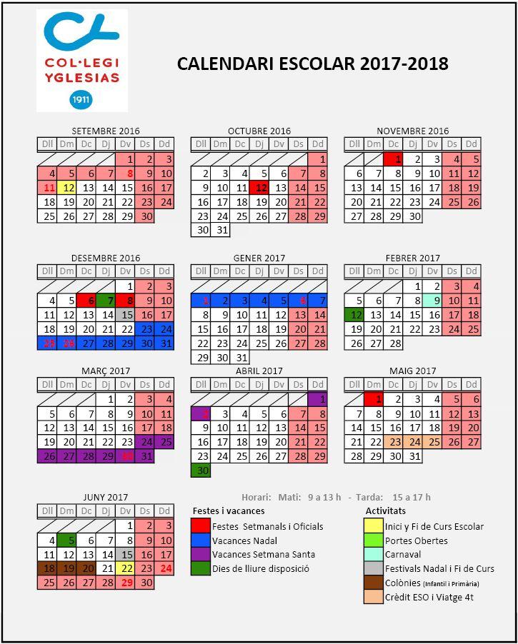 Calendari 2017-2018
