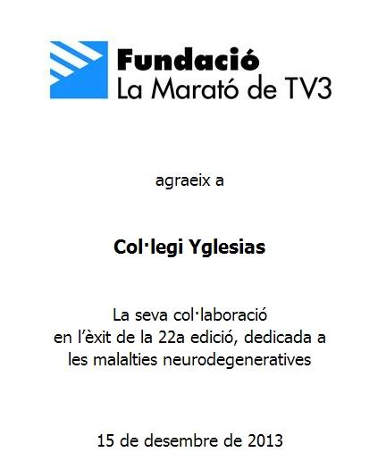 Diploma La Marato TV3 2013
