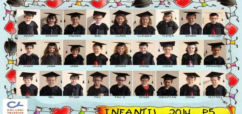 Graduació P5 – Infantil  –  2014