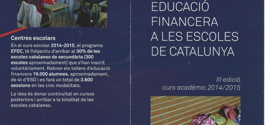 Taller d'economia financera – Alumnes de 4º d'ESO
