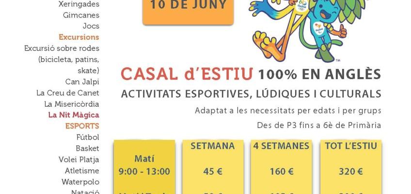SUMMER CAMP 2016 – OLYMPIC GAMES – CASAL D'ESTIU  –  100% EN ANGLÈS