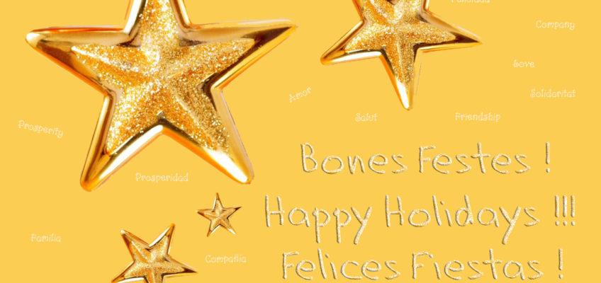 La comunitat educativa del Col·legi Yglesias us desitja Bones Festes!
