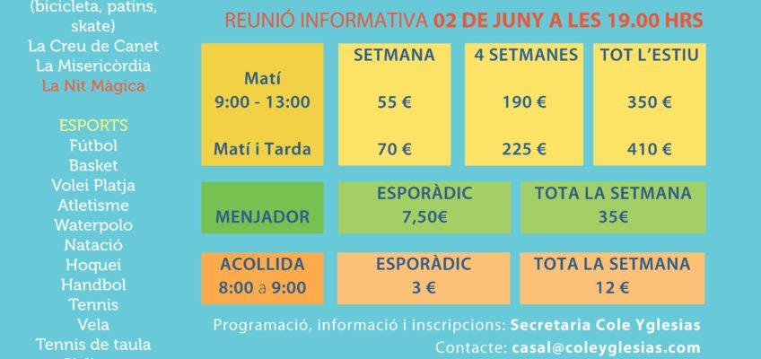 JA EL TENIM AQUI!!!!    SUMMER CAMP 2017