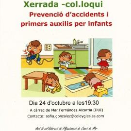 """Xerrada-Col·loqui:  """"Prevenció d'accidents i primers auxilis per infants"""""""