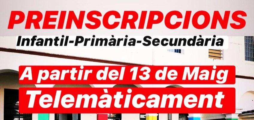 PROCÉS PREINSCRIPCIÓ CURS 2020-21